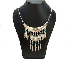 Ethnic Tribal Necklace, Tribal Necklace, Gypsy Necklace, Hippie Necklace, Ethnic Jewelry, Ethnic Bib Necklace, Boho Necklace, Boho Jewelry by FusionCraftJewelry on Etsy