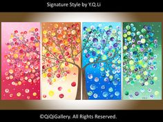 Original art Large Abstract landscape painting  por QiQiGallery
