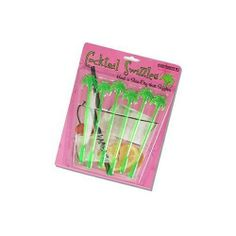 Accoutrements Palm Tree Swizzle Stick, Set of 6 by Accoutrements. $7.00. 6 Stirrers per set. Plastic palm trees. Swaying palm tree swizzle sticks for those Blue Hawaiian Drinks. Nice looking in all other Tropical beverages too! 6 swizzle sticks on a gift card. click on the picture for a close up.