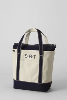 another option but with zipper! but shorter handles... Medium Natural Zip Top Canvas Tote Bag from Lands' End