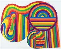 ol LeWitt - Arcs et bandes en couleur, 1999.