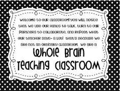 Little Minds at Work: Whole Brain Teaching {classroom sign} freebie!