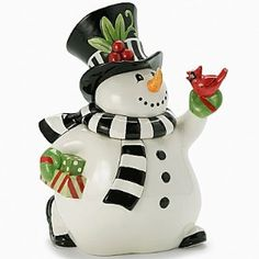 Fitz and Floyd Frosty Frolic Cookie Jar