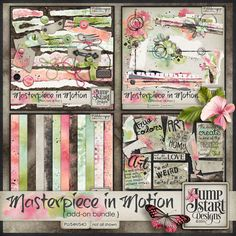 Masterpiece in Motion ~ Add-On Bundle by Jumpstart Designs. 53% OFF until May 25. Also available in separate packs at 20% off each. @ Pickleberrypop