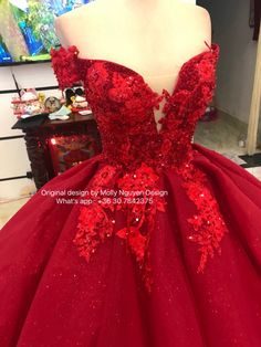 Red Iridescent Ballgown Dress Color Dress Ballgown Wedding Dress Red Ballgown Dress Color Dress Ballgown Wedding Dress The dress will need 3 weeks to make it in your measurements , Dress no including hoops skirt . Sweet 15 Dresses, Cute Dresses, Beautiful Dresses, Red Ball Gowns, Ball Gown Dresses, Evening Dresses, Mexican Quinceanera Dresses, Quinceanera Cakes, Red Dress Casual