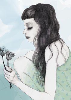 Fashion sketches by Roberta Zeta, via Behance