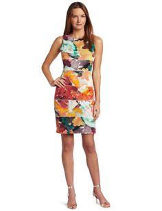 Calvin Klein Women's Release Tuck Dress