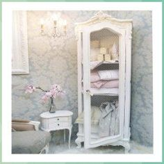Provencal Wire Fronted French Demi Armoire - Pine Cone Crafts for Kids #Provencal #Wire #Fronted #French #Demi #Armoire #Pine #Cone #Crafts #for #Kids Shabby Chic Cabinet, Chic Furniture, Chic Bedroom Design, Shabby Chic Dresser, Chic Kitchen, Chic Interior, Chic Decor, Chic Bathrooms, Shabby Chic Room