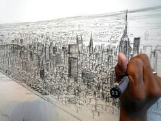 Inspiring Artist Draws Incredibly Detailed Cityscapes from Memory | Wave Avenue