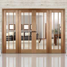 Easi-Frame Oak Room Divider Door System – Page 4 Wooden Sliding Doors, Sliding Door Design, Wooden Door Design, Partition Door, Room Divider Doors, Black Interior Doors, Glass Room, Door Sets, Oak Doors