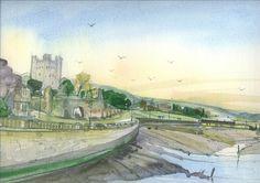 Rochester Castle Esplenade by Smokeyglove