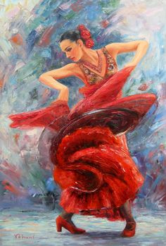 The Dance of Fire  Original Oil Painting on by TrueImpressions, $1299.00