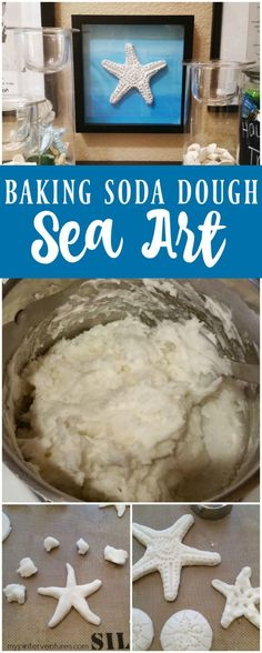 Quick and easy baking soda dough recipe. How to make baking soda dough sea art and starfish tutorial. Great craft with the kids! Baby Crafts To Make, Fun Crafts, Crafts For Kids, Ocean Crafts, Decor Crafts, Baby Art Activities, Primary Activities, Camping Activities, Holiday Activities
