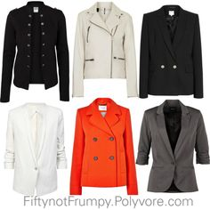A fashion look from August 2014 featuring Helmut Lang blazers, Reiss blazers and Vero Moda blazers. Browse and shop related looks.