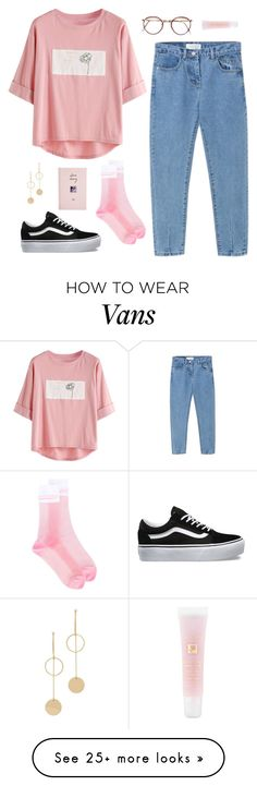 """""""Untitled #236"""" by asaravitz on Polyvore featuring WithChic, Vans, Cloverpost, GCDS, ASOS and Lancôme"""