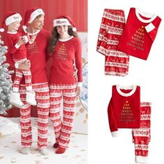 Christmas Family Matching Pajamas Set Adult Mens Womens Kids Sleepwear  Nightwear 35d4c2ea1