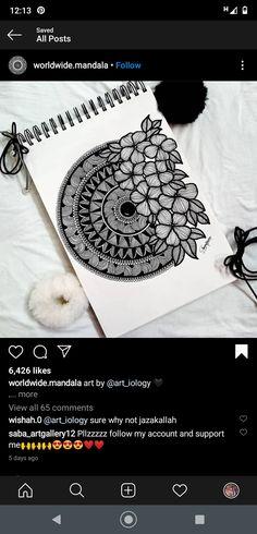 Mandala Doodle, Mandala Art Lesson, Mandala Artwork, Art Drawings Beautiful, Art Drawings Sketches Simple, Doodle Art Drawing, Mandala Drawing, Simple Canvas Paintings, Diy Canvas Art
