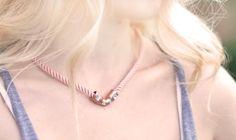 DIY Crystal Copper Plumbing Necklace