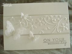 handmade wedding cards ideas | recipe card paper su shimmery white cardstock silver satin card