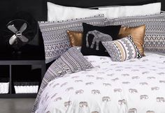 Primark Home- Spruce up your bedroom this summer with our tribal monochrome trend!                                                                                                                                                                                 More