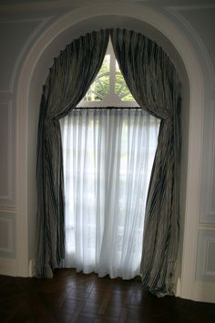 Arched Top Draperies Rosenfeld Interiors