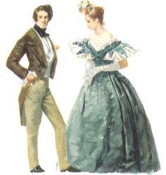 Principales vestimentas femeninas y masculinas. Una de las que se reformó y tuvo mayores cambios.