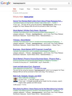 More Proof Google Counts Press Release Links, Using Matt Cutts's Own Blog