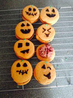 Pumpkin piñata and zombie brains cookies