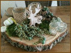 The most beautiful autumn decorations with everything nature offers now! Rustic Christmas, Christmas Home, Christmas Holidays, Christmas Wreaths, Christmas Crafts, Christmas Ornaments, Christmas Centerpieces, Xmas Decorations, Art Floral Noel