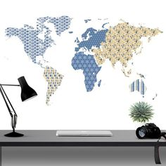 Extra large world map vinyl wall sticker vinyls world and world maps patterned world map wall sticker publicscrutiny Images