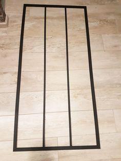 verrière noire porte atelier Diy Door, Hacks Diy, Home Staging, Hygge, Tile Floor, Interior Decorating, Sweet Home, Mirror, Wood