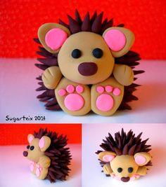 Sweet little hedgehog, clay or fondant