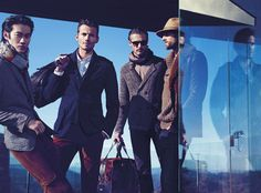 Alex Lundqvist, Ben Hill, Philip Huang & RJ Rogenski Get Sophisticated for Boss Black's Fall/Winter 2012 Campaign