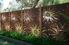 copper garden screen