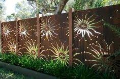 copper garden screen