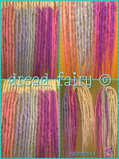 Colour change dreads made by Fi Fur Real