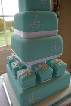 tiffany design cakes | Let Them Eat Cake!: Beautiful Tiffany Blue Wedding Cake!