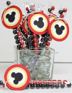 Mickey Mouse Clubhouse Birthday Party Favor by MyStampinMemories, $11.00