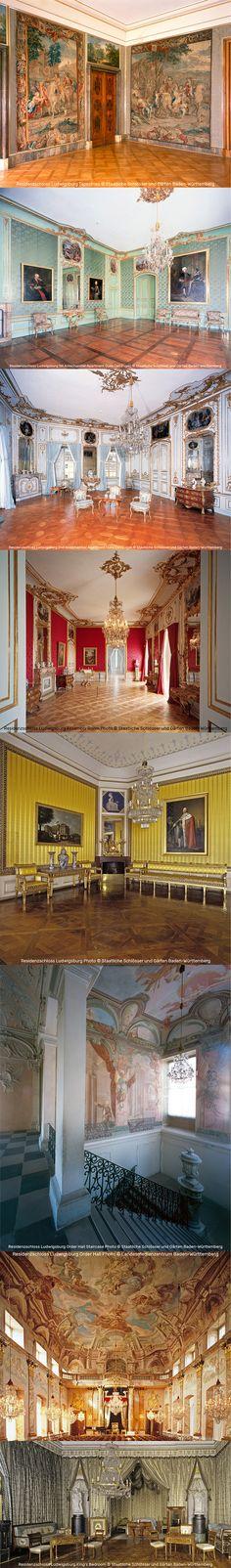 Baroque, Rococo, and Neoclassical Interiors in the Residenzschloss Ludwigsburg | Photos by Staatliche Schlösser und Gärten Baden-Württemberg & Landesmedienzentrum Baden-Württemberg