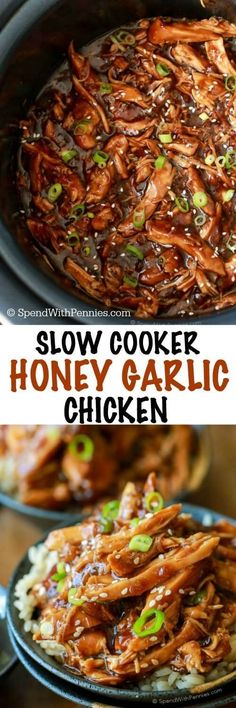 Sweet & Sticky Honey Garlic Chicken is quick to prep and loaded with flavor… Loading. Sweet & Sticky Honey Garlic Chicken is quick to prep and loaded with flavor… Crock Pot Slow Cooker, Crock Pot Cooking, Slow Cooker Chicken, Slow Cooker Recipes, Cooking Recipes, Crock Pots, Crockpot Ideas, Best Crockpot Meals, Slow Cooker Meal Prep