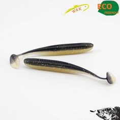 Small soft fishing lure for bass fishing --9 cm 10 pcs one bag soft lure for zander soft bait *** Find similar products by clicking the VISIT button