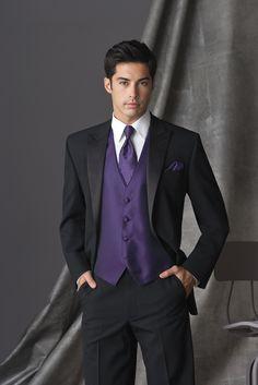 white and purple tuxedo  | Purple (Synergy) Tuxedo Vest