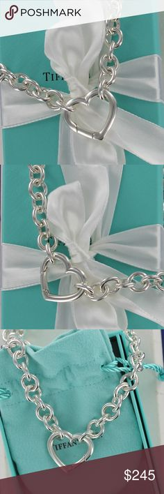 7d9a943c7 Tiffany & Co. Silver Heart Clasp Choker Necklace Please, no low ball  offers