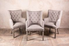 FRENCH STYLE DINING CHAIRS IN STONE LINEN ST. MALO