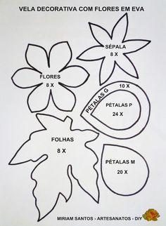 Flores de Mira: Vela Decorativa para o Natal com Flores em Eva