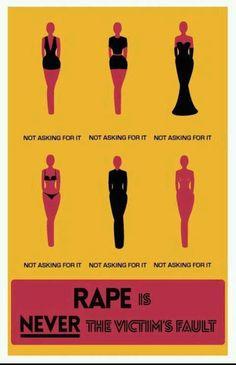 RAPE is N.E.V.E.R. the victim's fault.