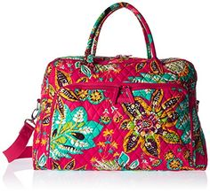 Vera Bradley Womens Weekender Rumba ** Read more at the image link. (This is an affiliate link) #TravelLuggage