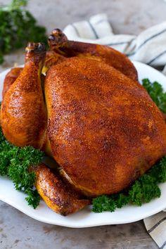 Smoked Chicken Recipe   Whole Smoked Chicken   BBQ Chicken #chicken #smoker #BBQ #dinner #dinneratthezoo #glutenfree #lowcarb