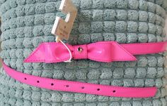 Kate Spade Pink Bow Belt Womens Size Large Patent Leather New  #katespade