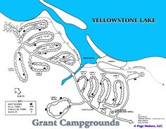 Grant Campground Map ~ Yellowstone National Park  25